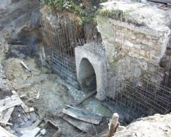 Капитальный ремонт водопропускной трубы на 412 км ст.Арзамас 2 Горьковской железной дороги