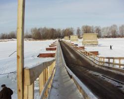 Изготовление наплавного моста из понтонов КС-63 и установка его через р. Б.Черемшан в г.Димитровграде Ульяновской области